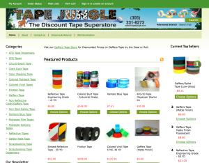 BigCommerce Online Store, TapeJungle.com, Ogawa Design Agency - BigCommerce Reseller