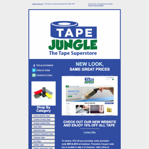 Tape Jungle Email Blast