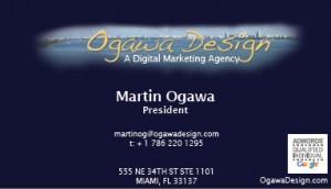 Ogawa Design Business Card Front