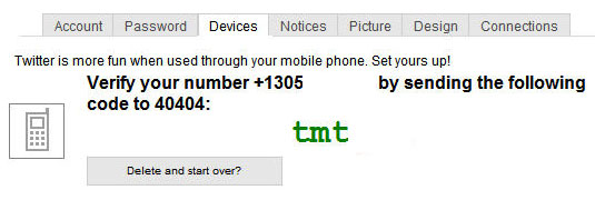 Enable SMS for Your Twitter Direct Messages, Updates for
