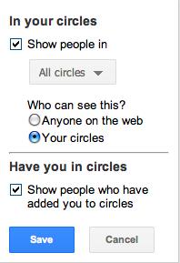 google plus circles hide, how to hide g+ circles