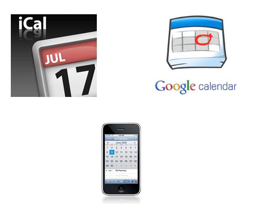 apple ical sync, iphone ical sync, iphone google calendar synchronization